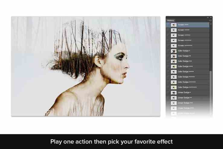 Play one action then pick your favorite effect