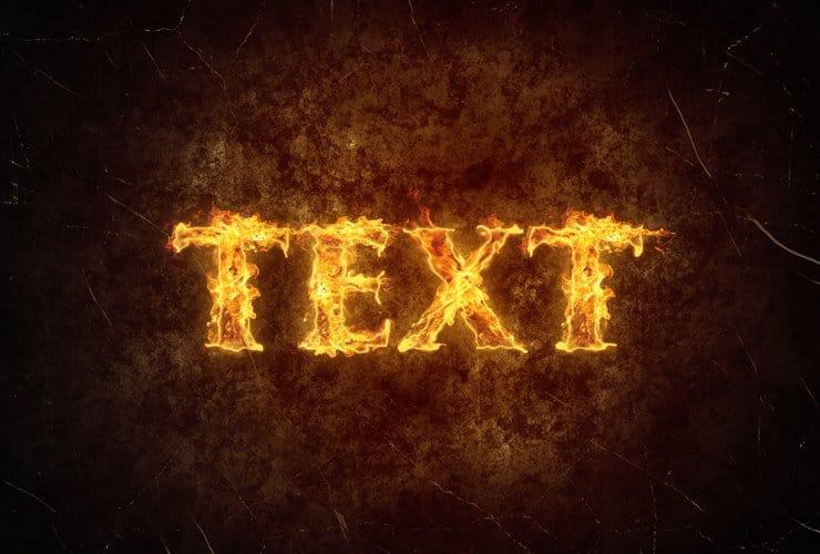 Как создать простой огненный текстовый эффект в фотошопе
