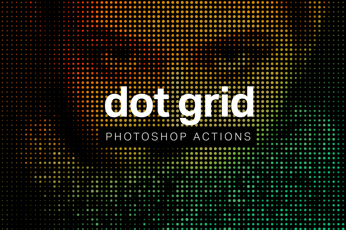 Free actions to create incredible dot grids from photos photoshop tutorials