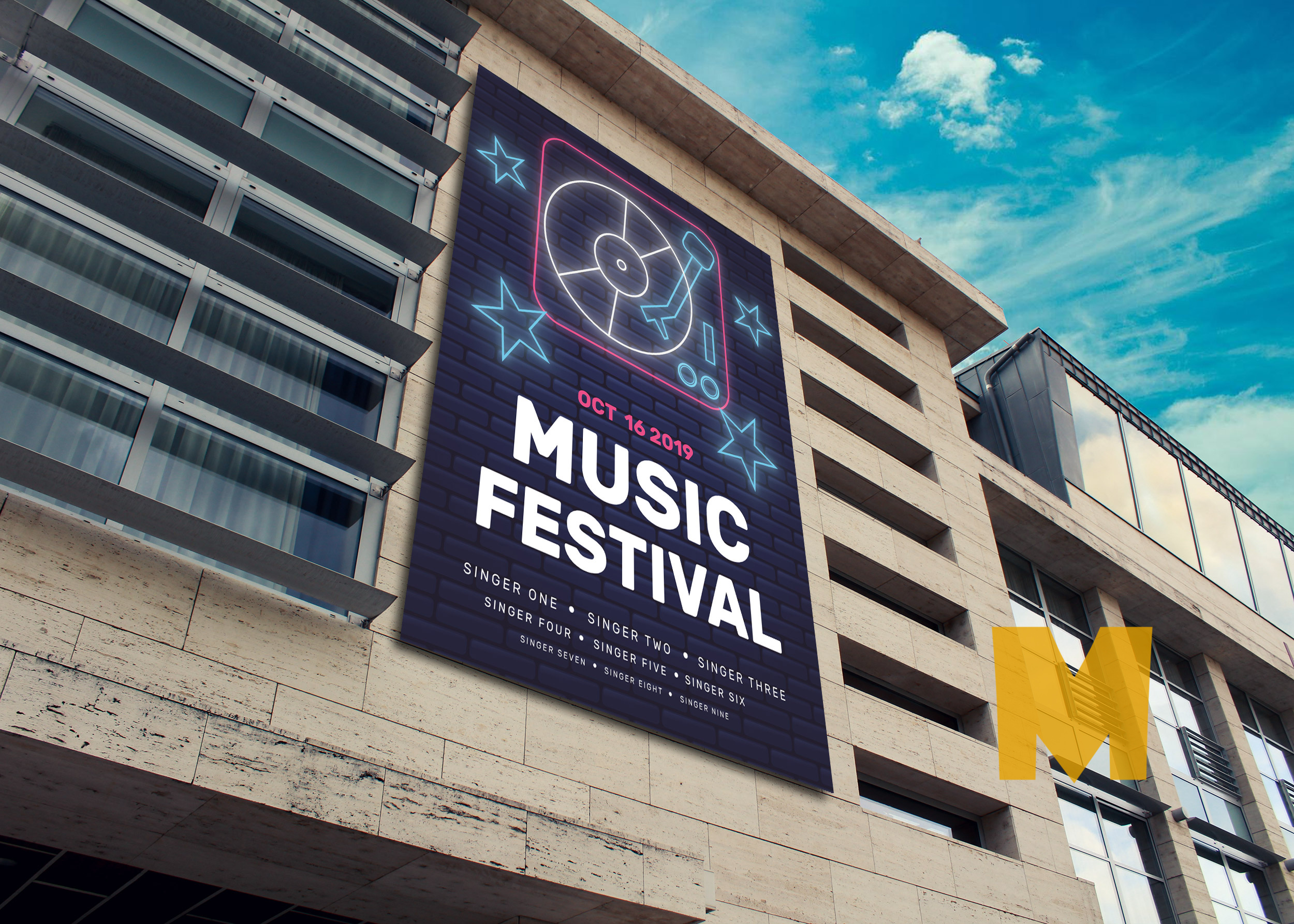 Click here and download the event ticket or festival party mockup graphic · window, mac, linux · last updated 2021 · commercial licence included. Free Poster Easel Mockup Psd Mockup Free Mockup