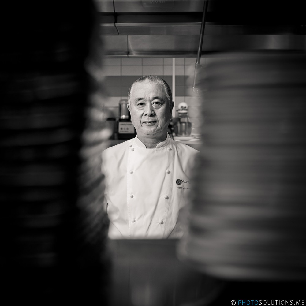 Photographer Oliver Doran visited Atlantis The Palm to photograph legendary chef Nobu Matsuhisa