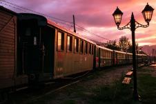 Mocănița, the little steam train