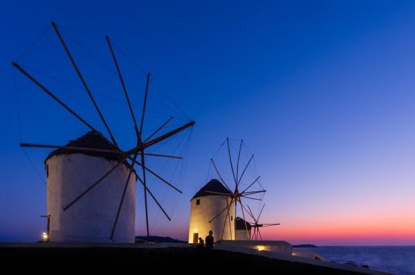 The old windmills of Mykonos