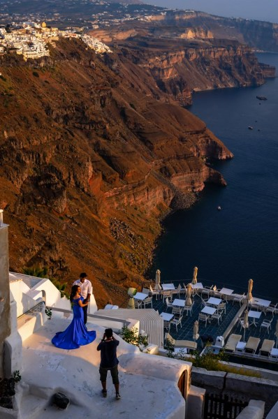 Scenario da favola. Matrimonio a Santorini