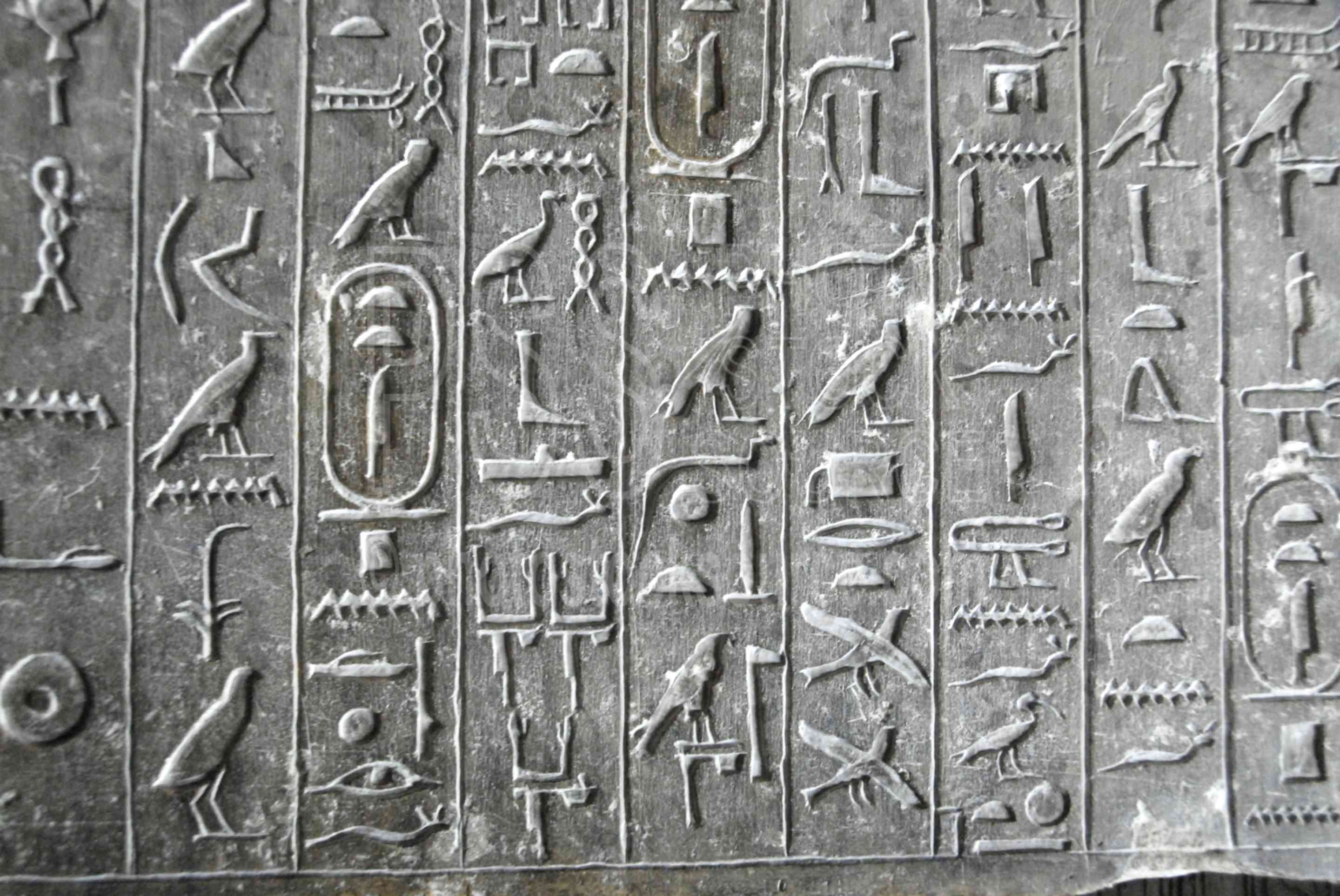 Photo Of Hieroglyphics In Teti Pyramid By Photo Stock