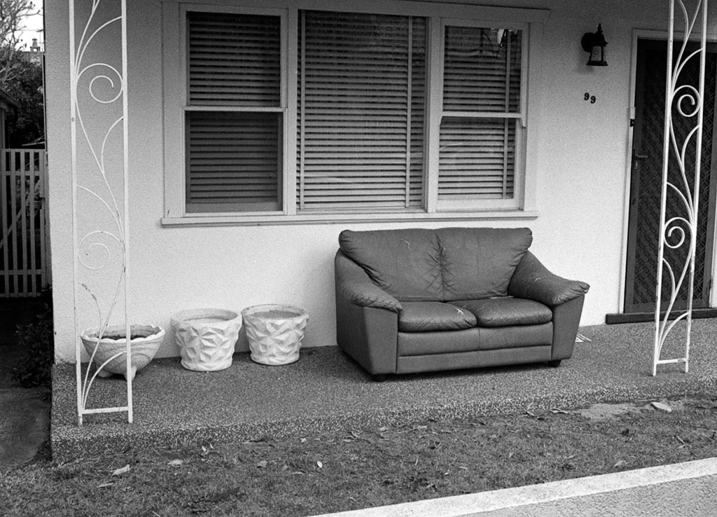 Abandoned Couch | Olympus Pen S