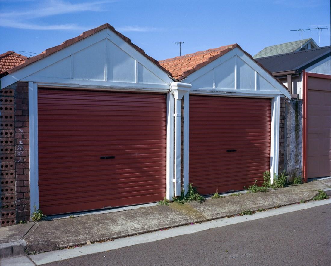 Garage Doors, Mamiya 7, 80mm f/4, Kodak Portra 400