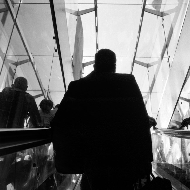 Up the escalator, Yashica 44A, Rerapan 100