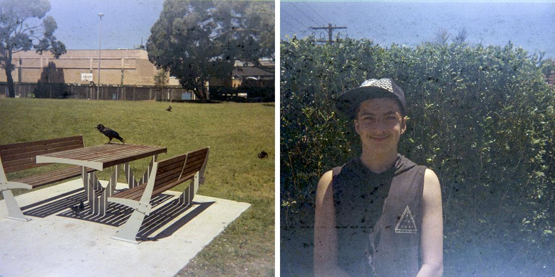 The crow and the boy, Kodak Instamatic 133, Fujicolor Super HGII 100 (expired 1995)