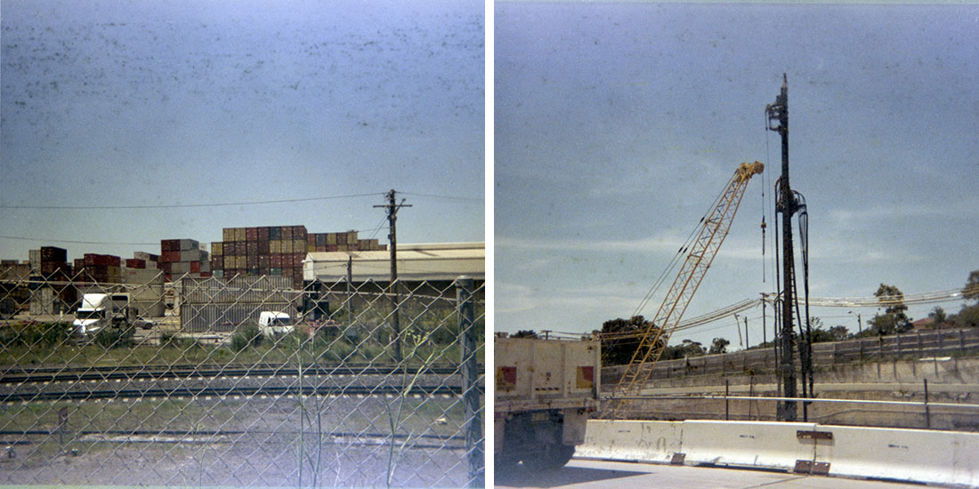Shipping/Construction, Kodak Instamatic 133, Fujicolor Super HGII 100 (expired 1995)
