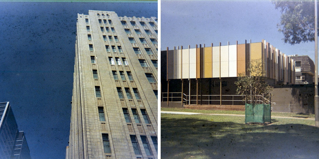 Buildings, Kodak Instamatic 133, Fujicolor Super HGII 100 (expired 1995)