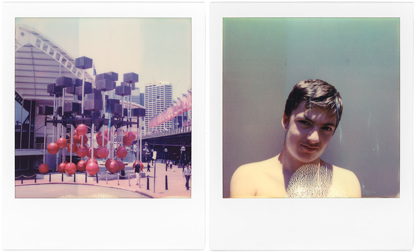 L: Darling Harbour, R: Alec, Polaroid SX-70, Polaroid Originals Color SX-70