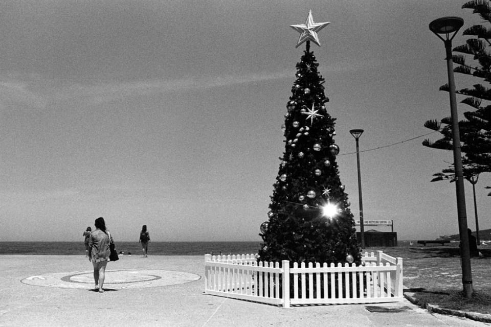 Christmas at Maroubra Beach, Nikon F2, Nikkor-S 35mm f/2.8 Auto, Kodak Tri-X 400