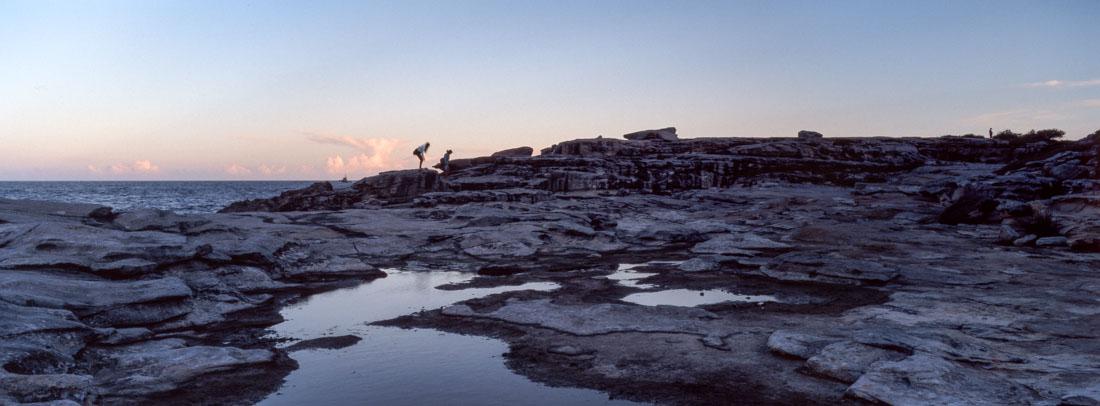 Climbing rocks, Little Bay   Hasselblad XPan, 45mm   Kodak Ektachrome E100