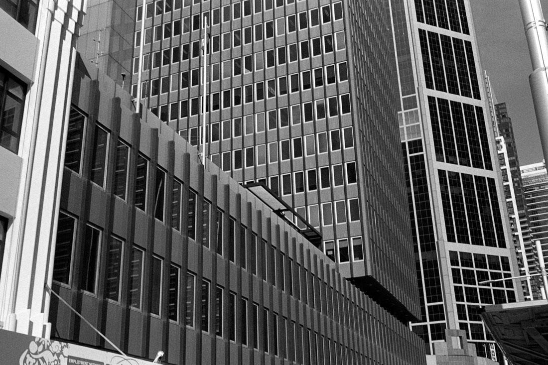 Sydney Buildings | Prakti | Kodak Tri-X 400