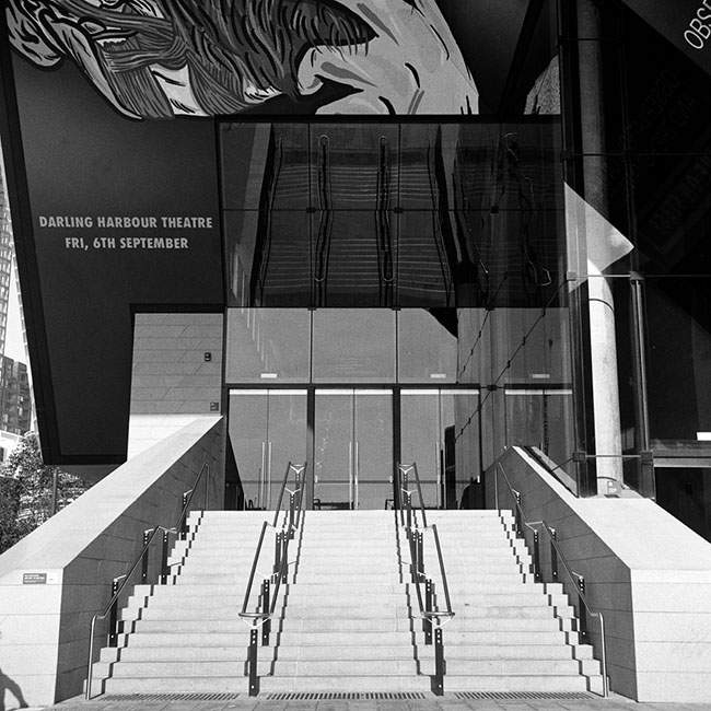Darling Harbour Theatre stairs | Walzflex | Kodak Tri-X 400