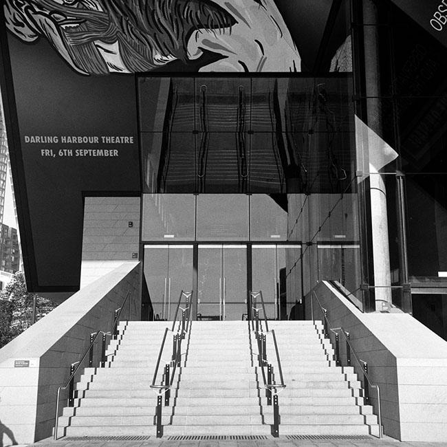 Darling Harbour Theatre stairs | Walzflex | Kodak Tri-X 400