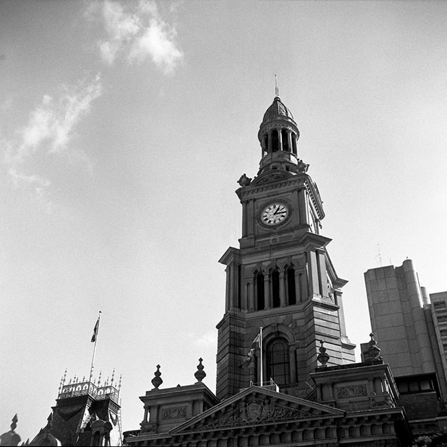 Sydney Town Hall Clock |Walzflex | Kodak Tri-X 400
