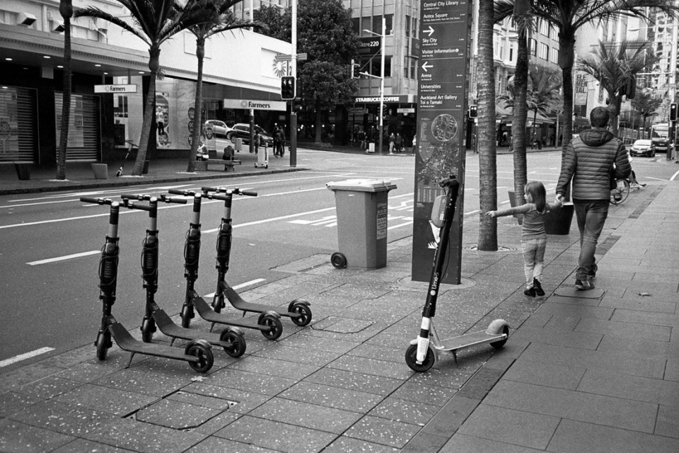 Look at the scooters! |Nikon L35AF | Ilford HP5 Plus 400 @ EI 800
