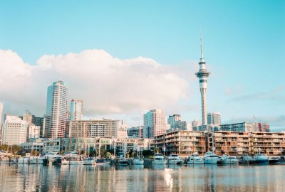 Auckland Skyline | Fuji GS645S | Kodak Portra 400