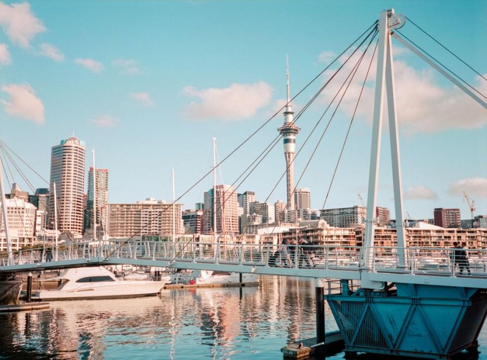 Bridge in Viaduct Harbour | Fuji GS645S | Kodak Portra 400