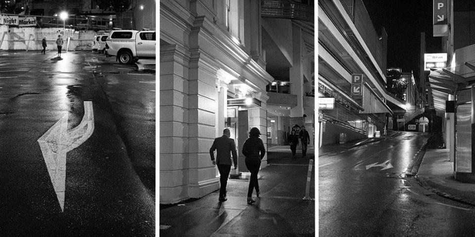 L-R Arrow, Night Out and Street | Leica M2 | Canon 50mm f/1.8 LTM | Kodak T-Max P3200