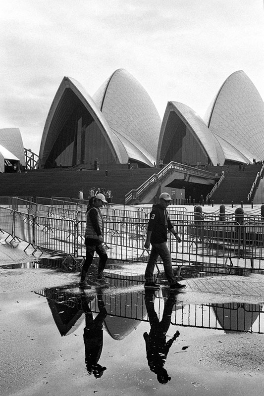 Sydney Opera House | Nikon F3 | Nikkor 35mm f/2.8 Ai | Ilford HP5 Plus 400 @ EI 800