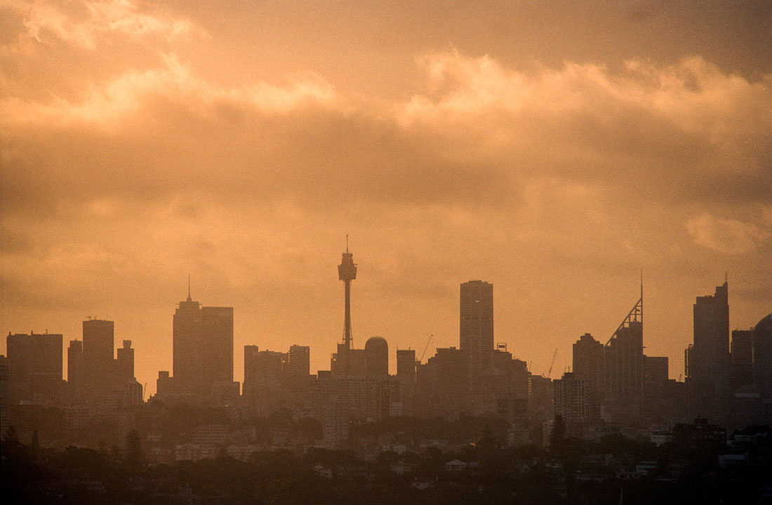 Sydney skyline | Nikon F3 | Nikkor 80-200 f/4.5 N Ai | Kodak Portra 160