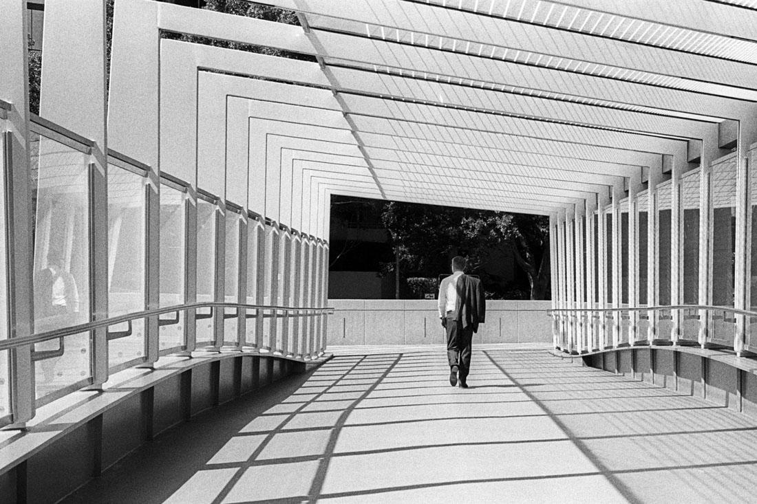 Lone bridge walk | Leica M3 | Leitz Summicron 5cm f/2 DR | Ilford HP5 Plus