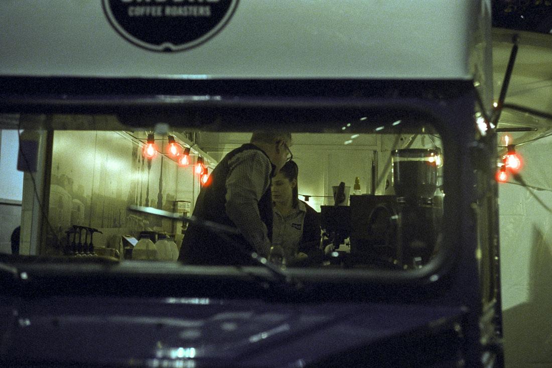 Late night food bus | Leica M3 | Leitz Summicron 5cm f/2 DR | Cinestill 800T