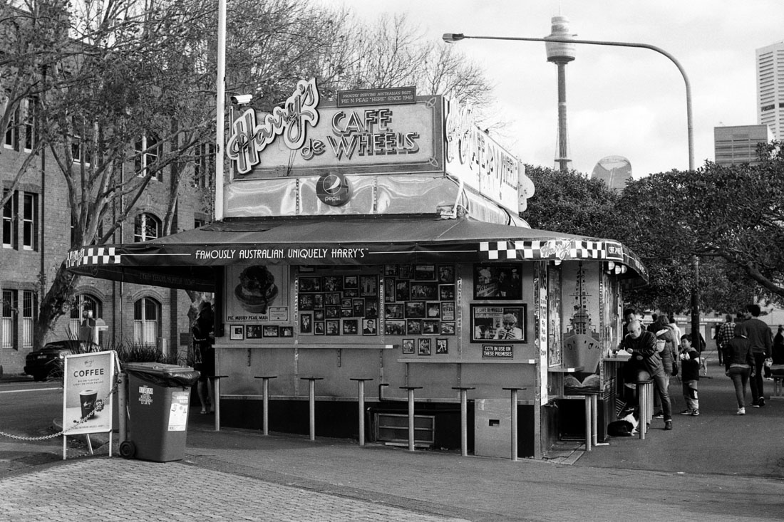 Harry's Café de Wheels | Topcon RE Super | Topcor 3.5cm RE Auto | Ilford FP4 Plus