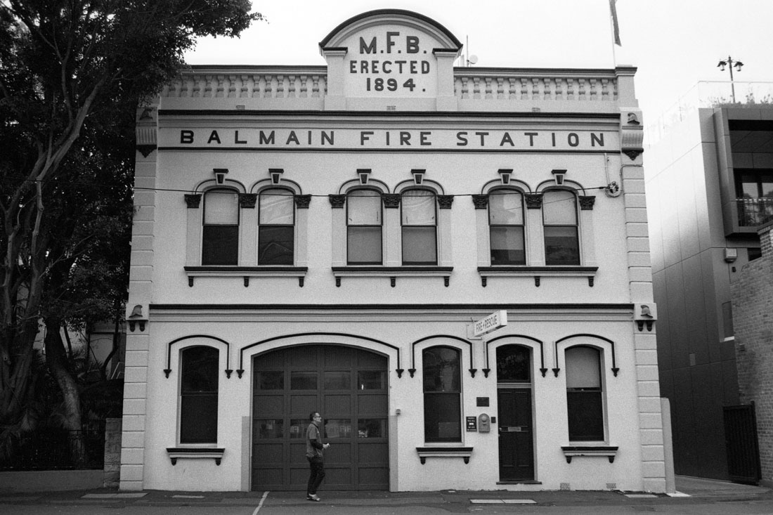 Balmain Fire Station | Topcon RE Super | Topcor 3.5cm f/2.8 RE Auto | JCH Street Pan 400