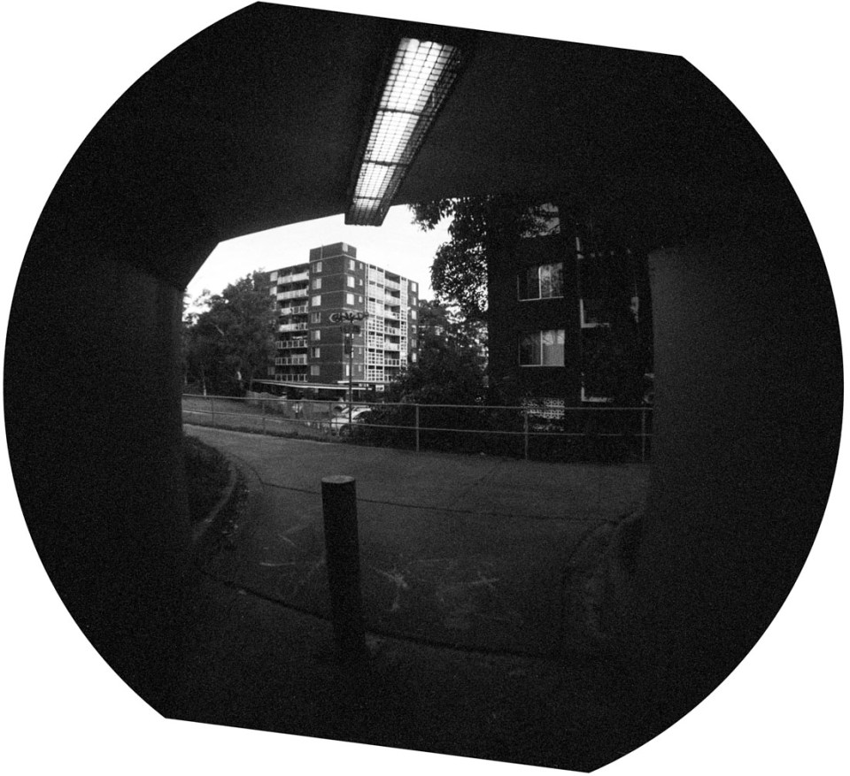 End of the tunnel | Lomography Fisheye 2 | Ilford HP5 Plus