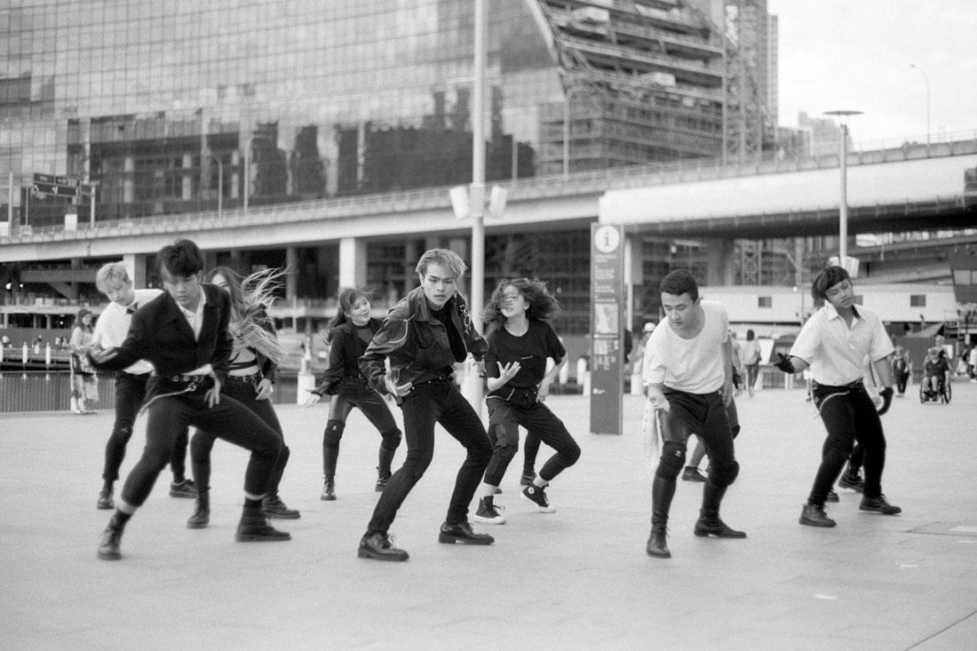 Pop music dancers | Pentax Spotmatic SP | Pentax Super-Takumar 50mm f/1.4 | Ilford FP4 Plus