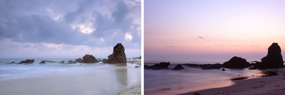 Sunrise at Flynns Beach, different stages | Nikon F100 | Nikkor 28-105mm 1:3.5-4.5 AF D | Fujifilm Provia 100