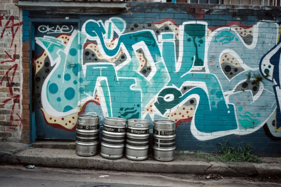 Beer kegs | Mamiya Press Super 23 | Sekor Seikosha-S 65mm f/6.3 | Kodak Portra 160 VC (expired 2013)