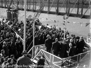 Official opening of the new Hawkesbury River railway bridge, July 1, 1946.