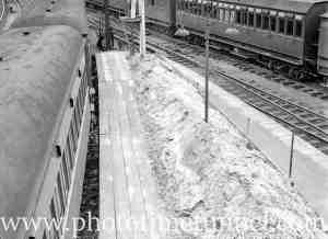 Railway track scene, Newcastle, January 14, 1936.