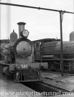 Locomotives at Broadmeadow, Newcastle, NSW. July 31, 1939.