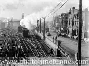 Smoke over Scott Street, Newcastle, NSW, May 30, 1939. (1)