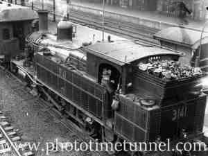 Locomotive 3141 at Newcastle Railway Station, May 20, 1939.