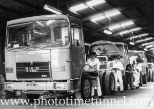 MAN diesel truck factory, Kurri Kurri, NSW, 1968.