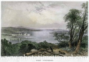 Port Stephens, by John Skinner Prout. Circa 1840s.