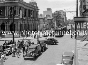 Traffic incident outside Newcastle Post Office, Hunter Street, Newcastle, NSW, January 21, 1941.