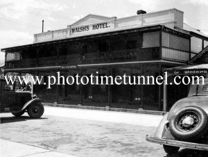 Walsh's Hotel Queanbeyan, NSW circa 1940s.