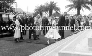 Queen Elizabeth II and Prince Philip at BHP steelworks, Newcastle, NSW, February 9, 1954. (14)