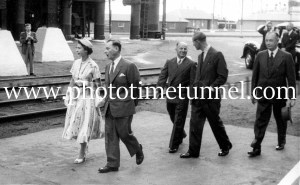 Queen Elizabeth II and Prince Philip at BHP steelworks, Newcastle, NSW, February 9, 1954. (25)