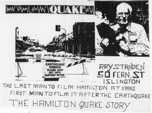 Ray Standen's Newcastle earthquake video