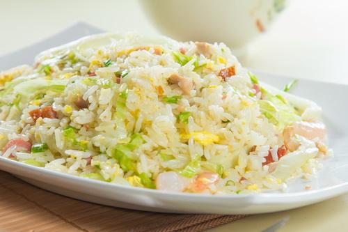 生菜肉粒蛋炒飯