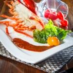 【開邊龍蝦西式海鮮料理】飲食業專用素材圖像